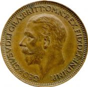 1911 to 1936 Farthing George V Grade from Fine to EF